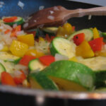 Veggies cooking for casserole