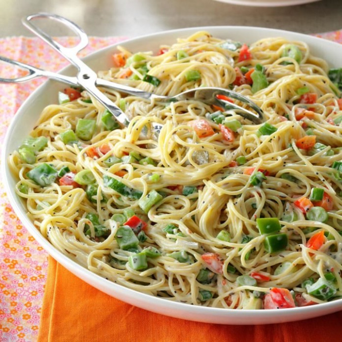 Vermicelli Pasta Salad Recipe | Taste of Home
