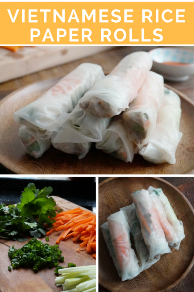Vietnamese Rice Paper Rolls - New Kid on the Wok