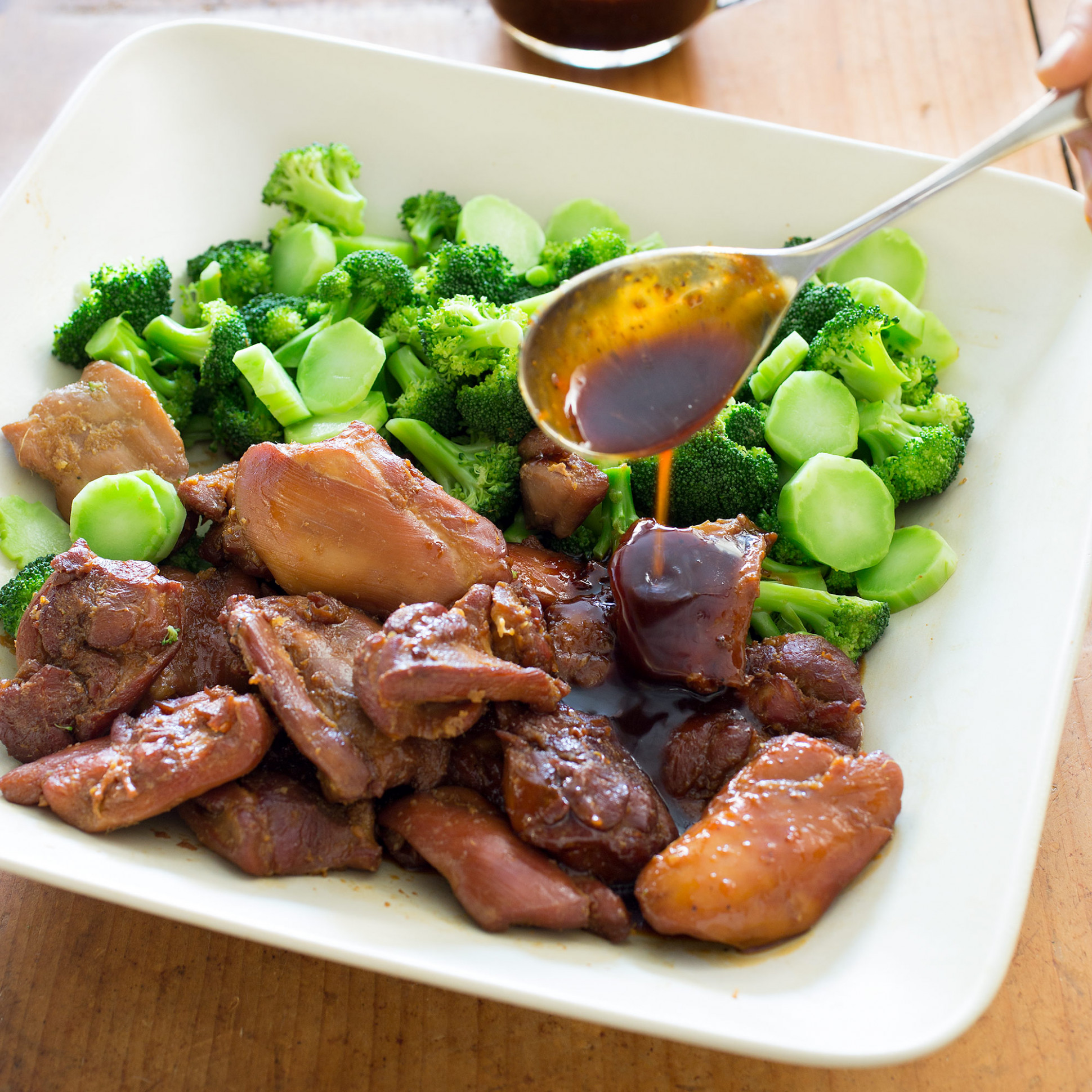 Vietnamese-Style Caramel Chicken With Broccoli