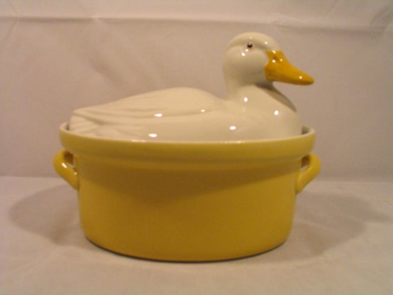 Vintage Hall Carbone Duck Covered Casserole By …