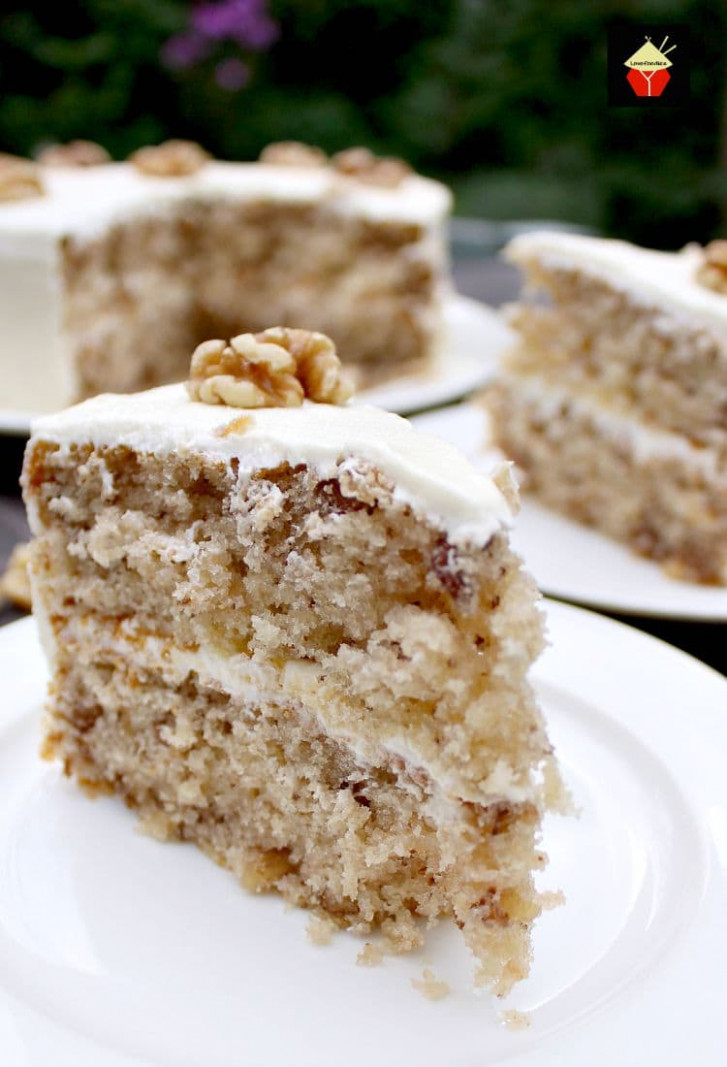 Walnut Cake is a delicious easy recipe. The cake is so ...