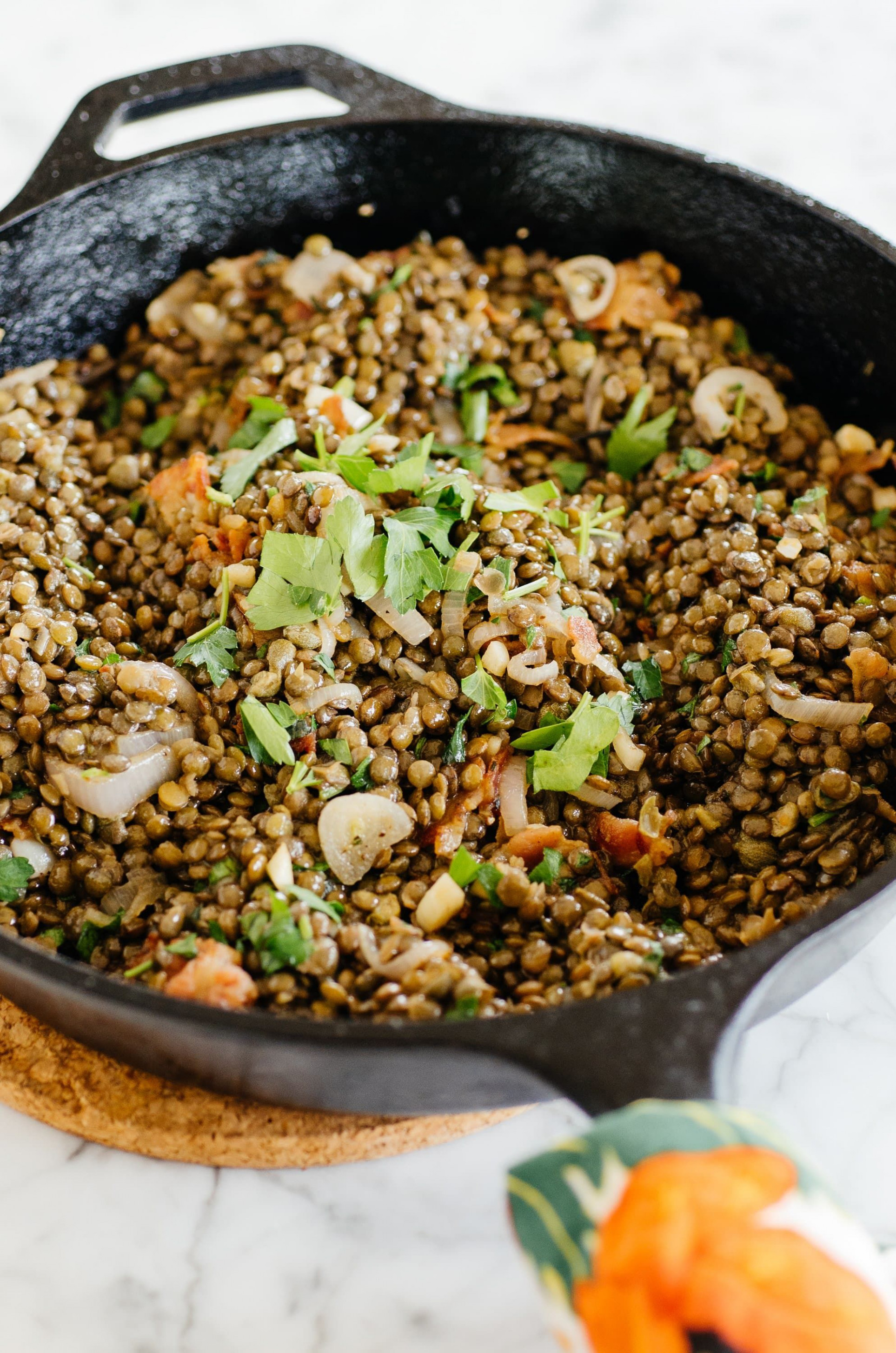 Warm French Lentil Salad with Bacon & Herbs | Recipe ...