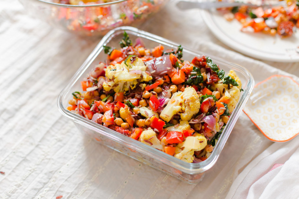 Warm Rice Medley Salad with Fried Chickpeas