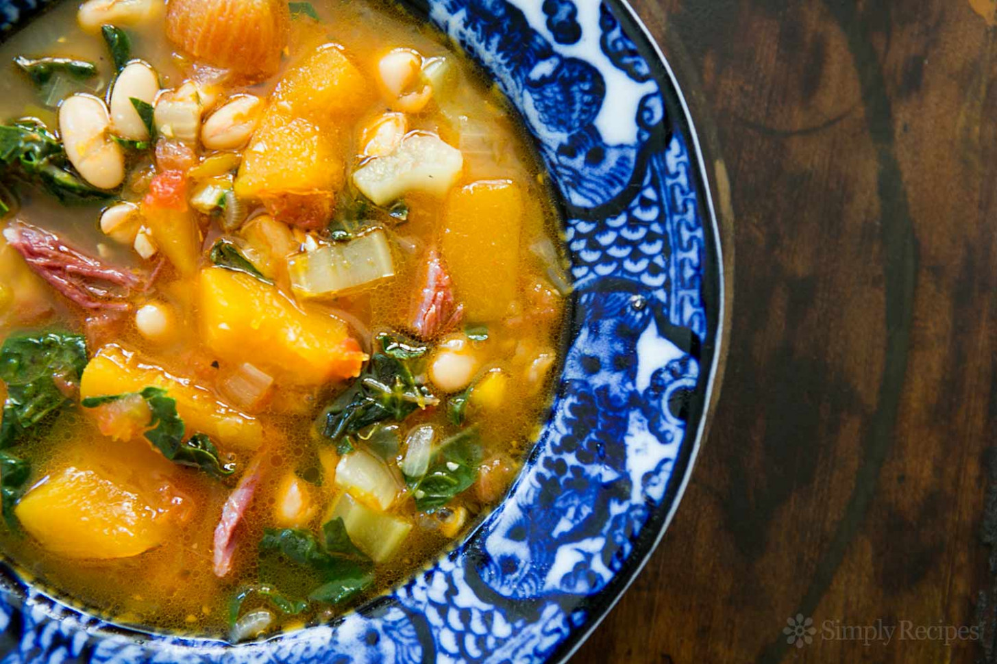 White Bean Soup With Ham, Pumpkin, And Chard Recipe …