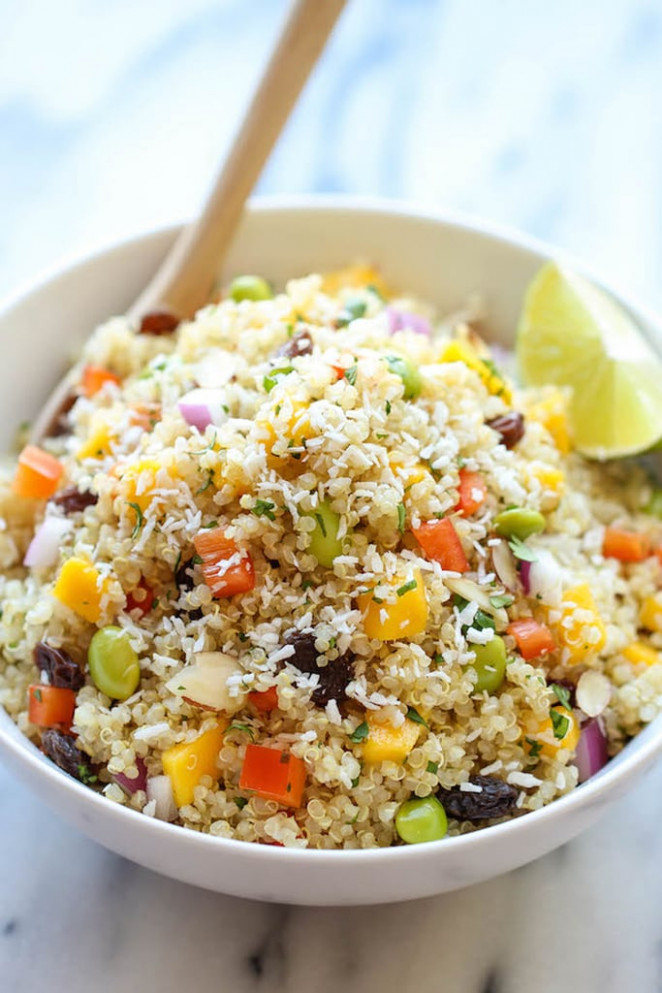 Whole Foods Copycat California Quinoa Salad | Quinoa Salad ...