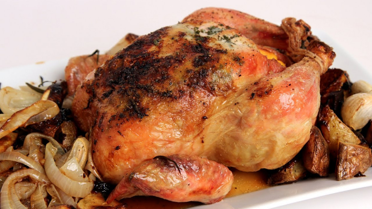 Whole Roast Chicken Recipe - Laura Vitale - Laura in the ...