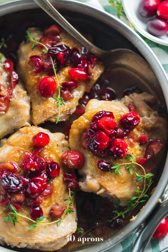 Whole30 Cranberry Chicken (Whole30 Chicken with Cranberries)