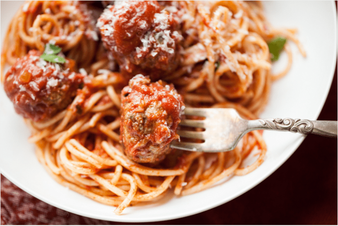 Wholewheat Spaghetti with Meatballs Recipe | Healthy ...