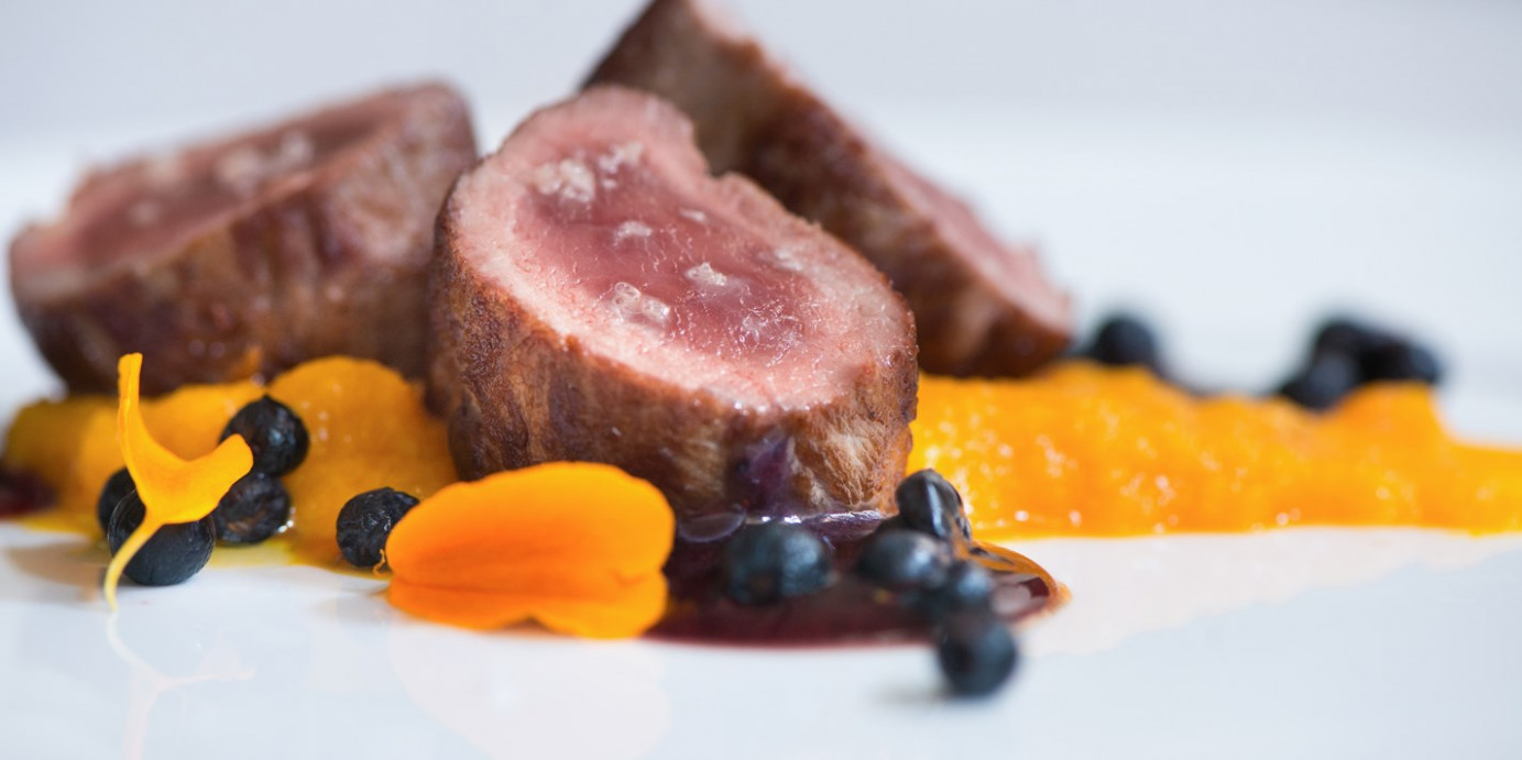 Wild Boar Recipe with Pumpkin Purée - Great Italian Chefs