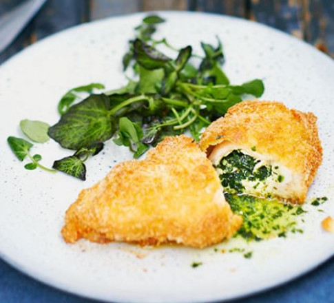 Wild garlic chicken Kiev recipe | BBC Good Food