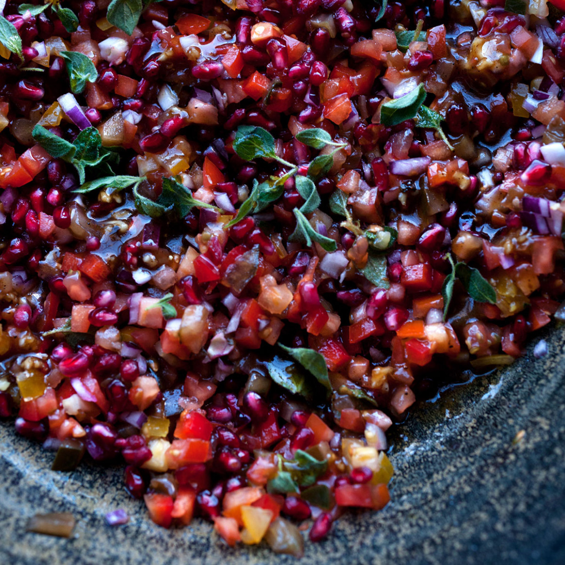 Yotam Ottolenghi- Tomato and Pomegranate Salad - Good ...