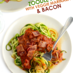Zoodle Pasta With Mushroom And Onion Marinara And Bacon …