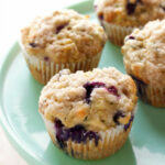 Zucchini Blueberry Muffins - The Busy Baker
