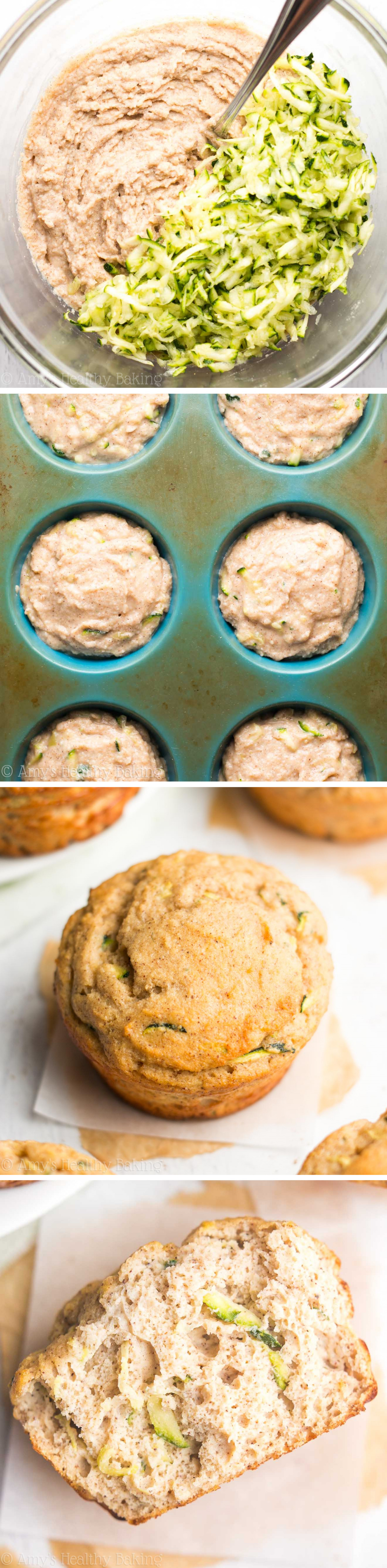 Zucchini Bread Protein Muffins   Amy's Healthy Baking