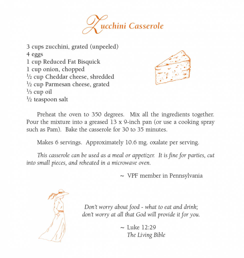 Zucchini Casserole - Featured Low Oxalate Recipe September 10