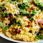 Zucchini Corn And Bacon Pasta With Parmesan And Basil …