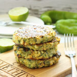 Zucchini Fritters With Grilled Corn And Hatch Chiles