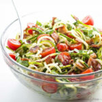 Zucchini Noodle Salad Recipe With Bacon & Tomatoes (Low …