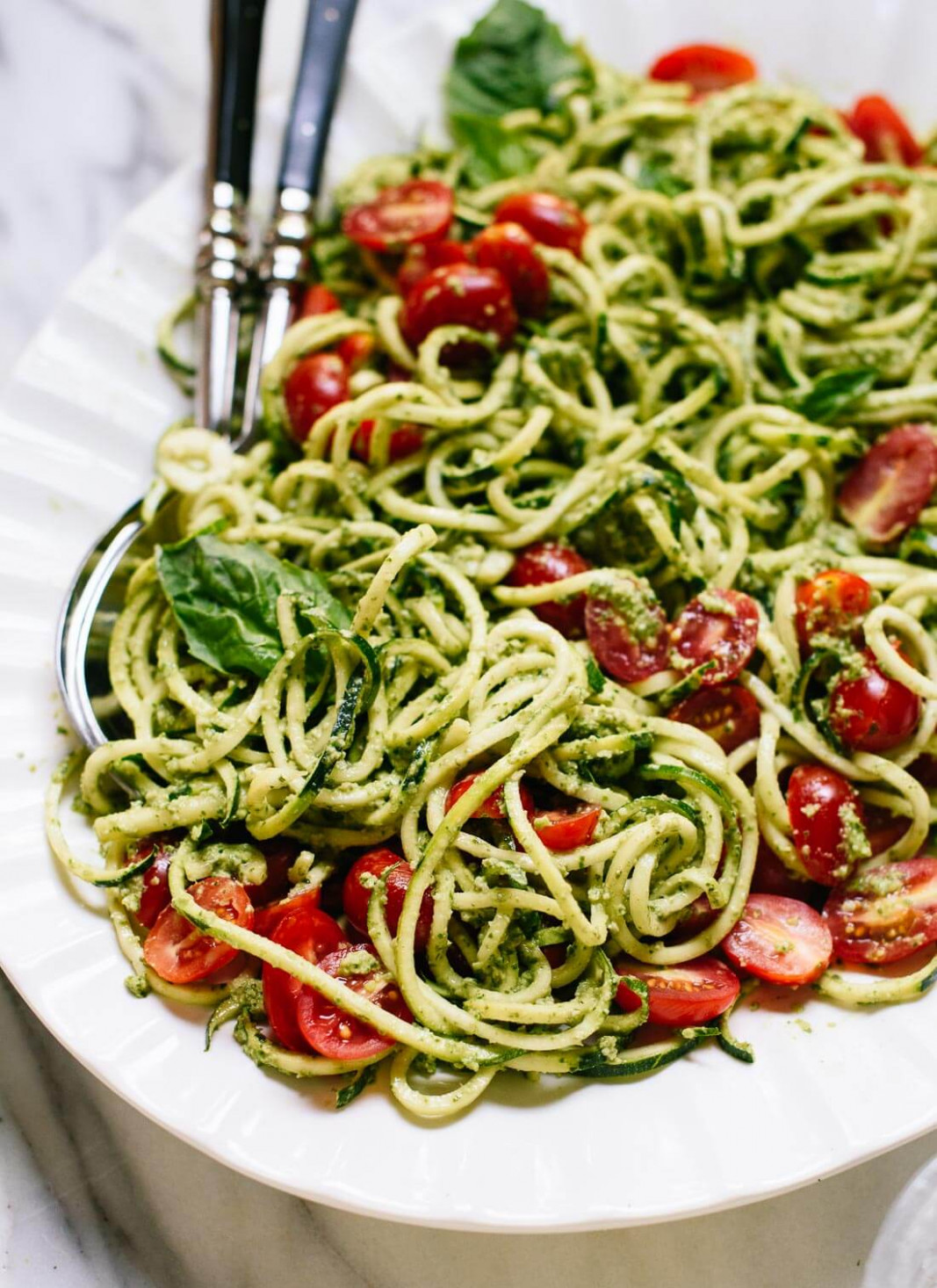 Zucchini Noodles With Basil Pesto – Cookie And Kate