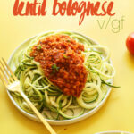 Zucchini Pasta With Lentil Bolognese