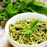 Zucchini Pasta With Vegan Basil Pesto (Raw, Vegan, Gluten Free, Dairy Free,  Paleo Friendly)