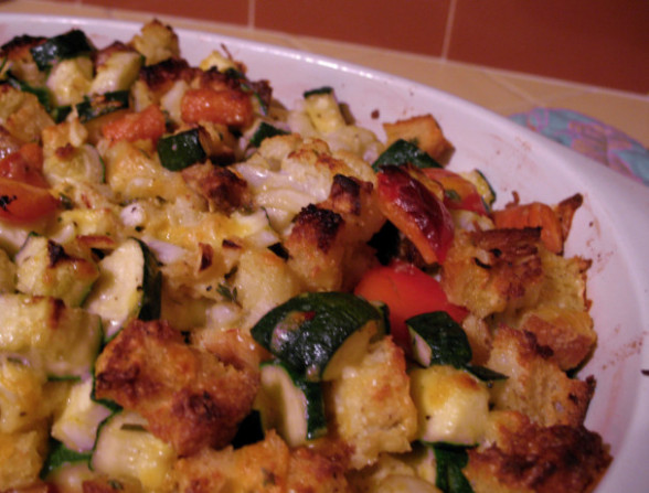 Zucchini Vegetable Stuffing Casserole Recipe - Food