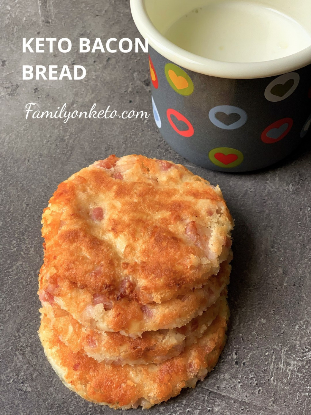 Keto bacon bread