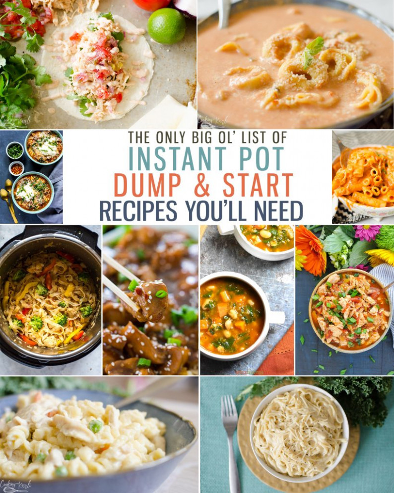 Top 9 Instant Pot Dump And Start Recipes – Cooking With Karli